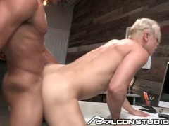 FalconStudios Cute Blonde Gets Fucked At The Office By Young Stud