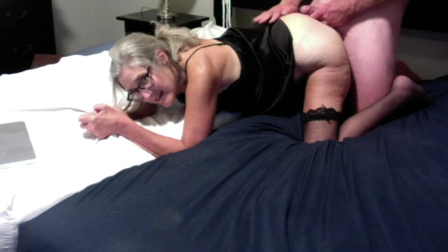 Of mature granny - Hot milf gets fucked from behind gets cum all over her ass mature granny