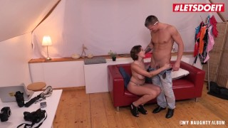 LETSDOEIT – Busty Russian Nympho Rides Photographer's Cock
