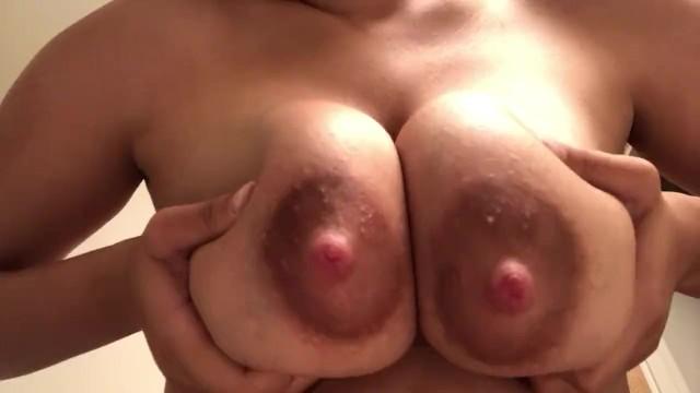 Massaging lactating boobs 1