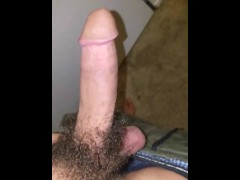 playing with my Big white dick