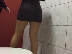 hard sex of young people in the bathroom of the university, with hidden cam