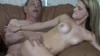 Horny old man fuck grandsons girlfriend