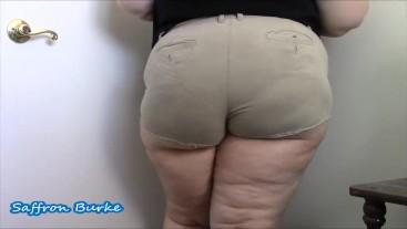 BBW Ass Worship in Khaki Shorts
