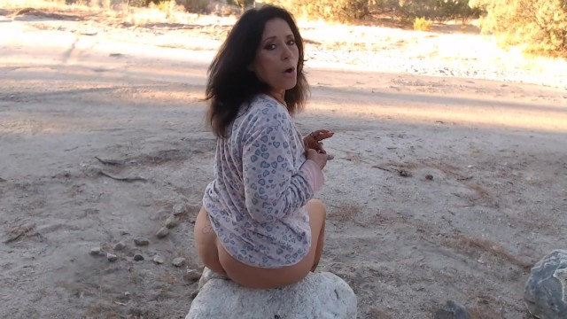 MATURE MOM wakes & bakes outside with Pussy & Ass play- smoking fetish 3
