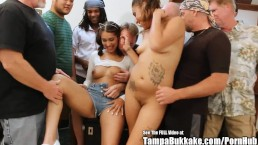 Kitty Catherine and Mya Latina Gangbang Party!