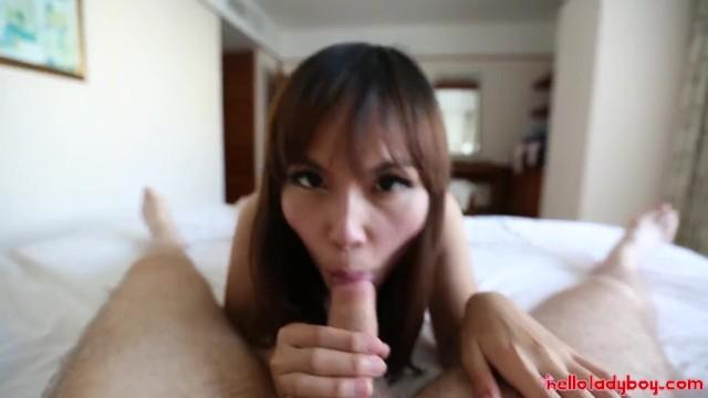 Big White Dick Pounds Brace Face Thai Asian LadyBoy 10