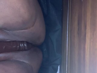 Pussy squirting on dildo...