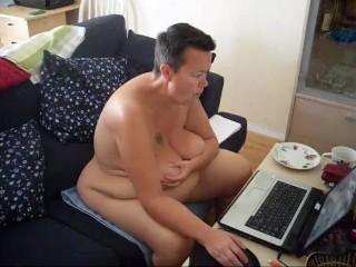 At the computer...