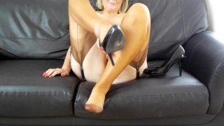 Copper seamed authentic nylons