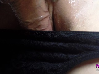 CUMMING IN MY PANTIES AND PULL THEM UP AFTER & PISS ON COCK