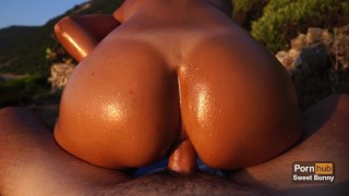 Anal Sex At Sunset On A Public Beach - Amateur Sweet Bunny