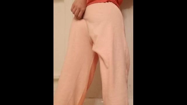MILF Wets Self In Pink Sweatpants 21
