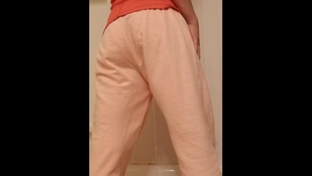 MILF Wets Self In Pink Sweatpants 19