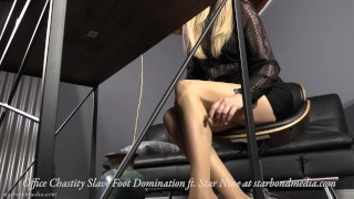 Office Chastity Sub - Office Foot Domination Star Nine TRAILER