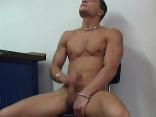 Hot boy jerks off for camera...