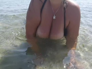 Beach wet...
