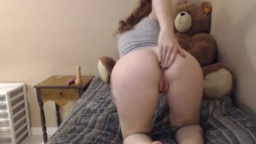 teen red head fingers herself waiting for you to come home