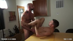 Submissive Skinny Dude Fucked On An Office Desk