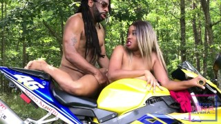 Don Whoe gives Nina Rivera that D on his bike