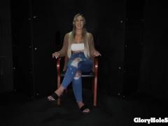 Demi Eats strangers cum in the gloryhole