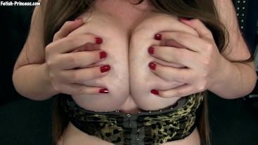 amateur huge veiny tits cumshot