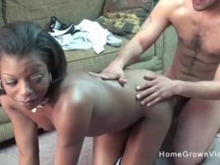 Big booty ebony amateur slut gets a big...