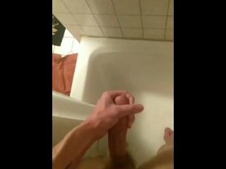 Twink Cums in Shower