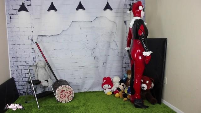 Harley Quinn VS ToyMan Silly Doll Bimbofication FULL VID OmankoVivi Clown 10