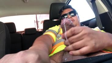 Construction Worker Masturbating