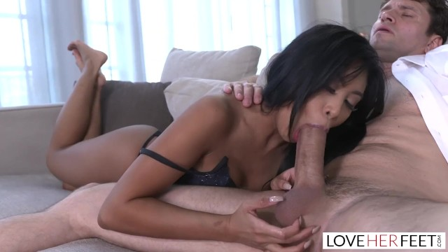 Kay parker lesbian - Loveherfeet - asian beauty ember snow rides a fat white cock