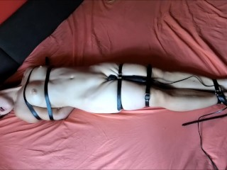 Tied up young girl with vibrator