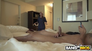 BANGBROS - Hotel Maid Cheats On Her Husband By Sucking My Big Dick