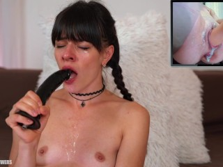 Fuck My Mouth and My Cunt at the same time,This help Me Squirt Orgasm
