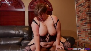 big butt bbw rides big black cock while husband is at work
