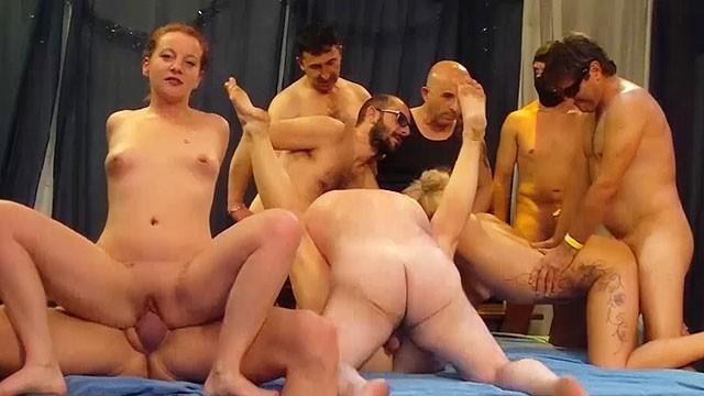 Wild German Swinger Party Orgy