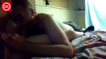 Sucking, swallowing and servicing straight 18 year old in his room