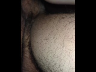 Rough doggy style, pussy gripping my dick