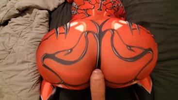 Curvy spider-pawg twerks on dick