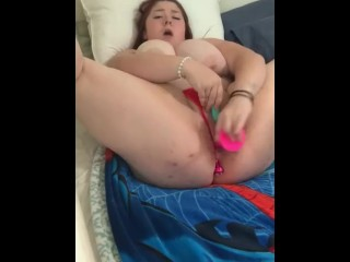 Busty bbw switches holes after squirting everywhere