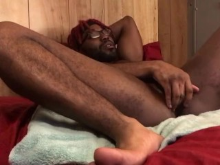 Edging my cock trying to gape my riding...