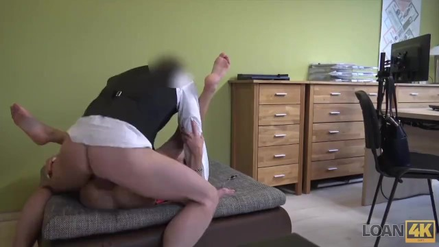 LOAN4K. Agent gives credit to brunette hottie for sex in office 15