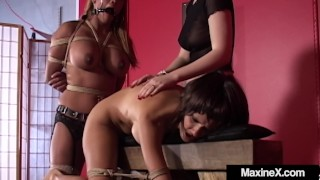 Asian Milf Maxine X Tied Gagged & Fucked With Mexican Hooker