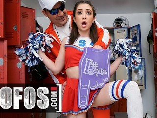 MOFOS - Petite cheerleader Jane Wilde gets fucked in locker room