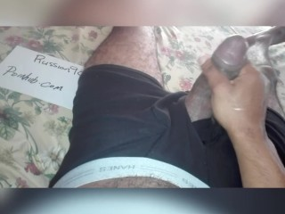 Woke up horny and playing with morning dick