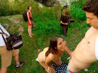 Amateur Public Sex for a Crew of Film Makers - MySweetApple