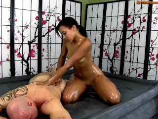 Erotic massage blowjob and ebony beauty adriana maya...