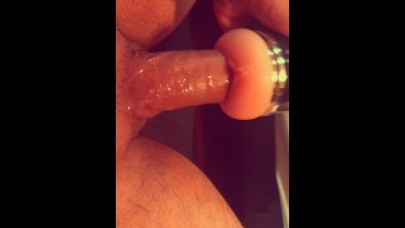 Deep voice DIRTY TALK and MOANING while I fuck my fleshlight THICK COCK