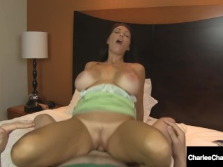 Busty Cougar Charlee Chase Bangs Lucky Fan With 2 Pussies?