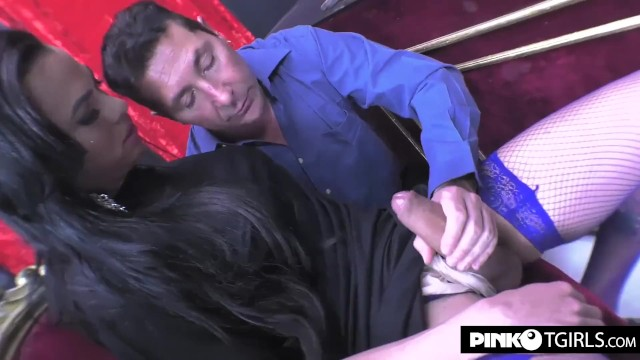 Shemale cock lovers - Keylla marques transsexual fucks a passive shemale lover with his big cock
